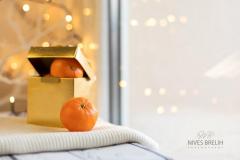 Fotografiranje darilneg paketa mandarin
