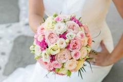 Poročni šopek vrtnic